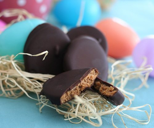 Peanut Butter Eggs Low Carb and Gluten Free