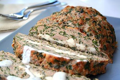 Feta Stuffed Turkey Meatloaf