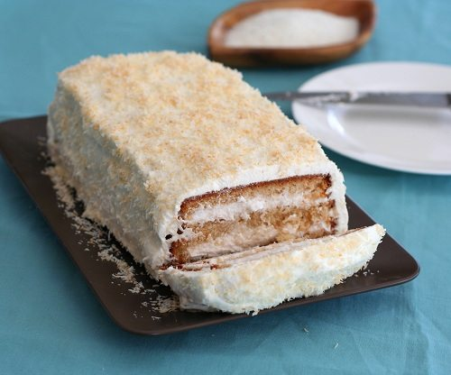 Low Carb 3-Layer Coconut Cake