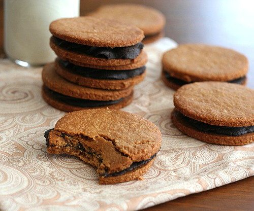 Low Carb Peanut Butter and Chocolate Sandwich Cookies