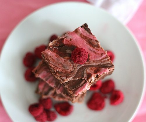 Low Carb Raspberry Cheesecake Brownies