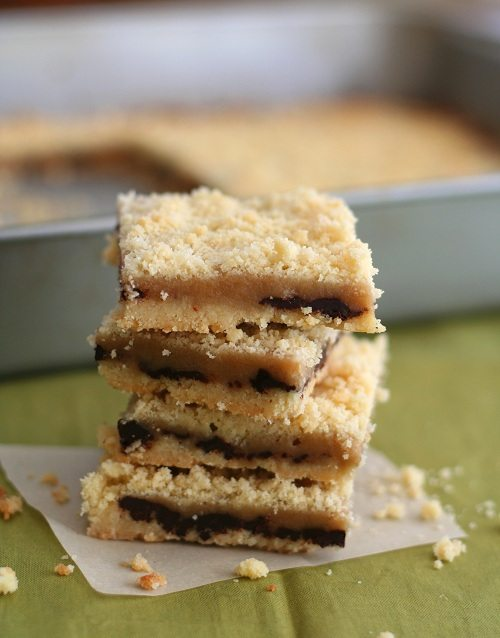 Low Carb Salted Caramel Crumb Bars