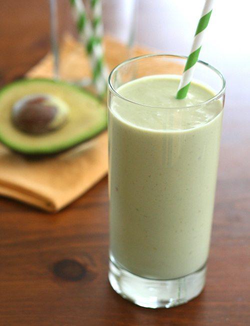 Low Carb Avocado Green Tea Smoothie