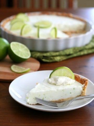 Low Carb Frozen Margarita Tart