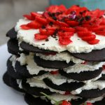 Low Carb Strawberry Icebox Cake with Chocolate Wafers