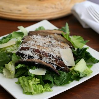 Grilled Portobello Caesar Salad – Low Carb and Gluten-Free