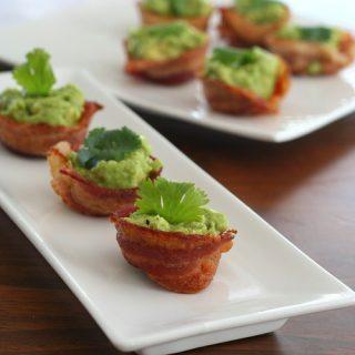 Mini Bacon Guacamole Cups