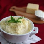 Low Carb Sour Cream And Cheddar Mashed Cauliflower @dreamaboutfood