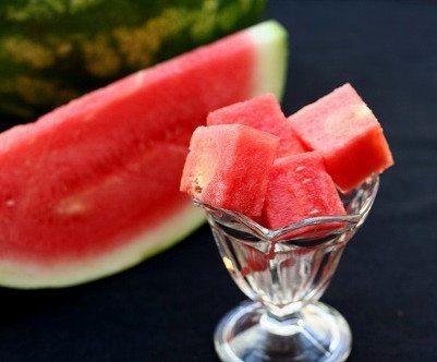 Practice shot of watermelon