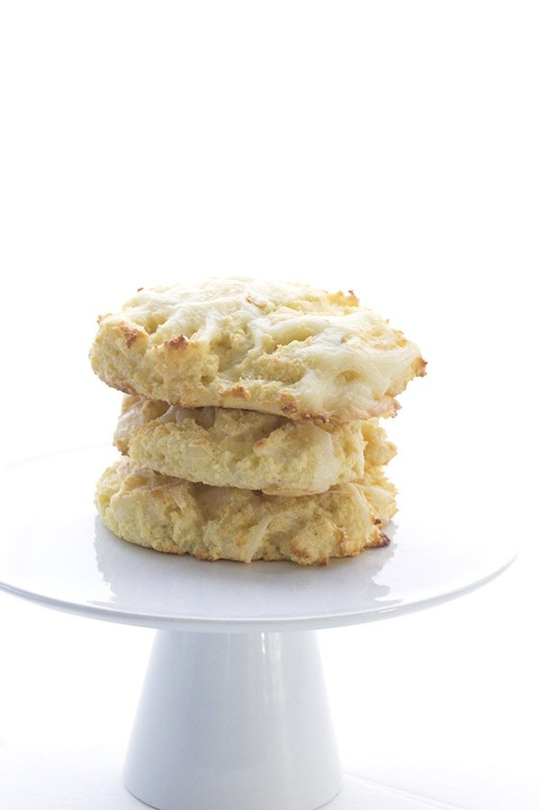 stack of Low Carb Keto Grain-free Biscuits