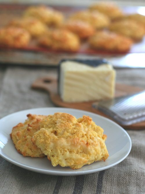 Low Carb Gluten-Free Cheddar Drop Biscuits