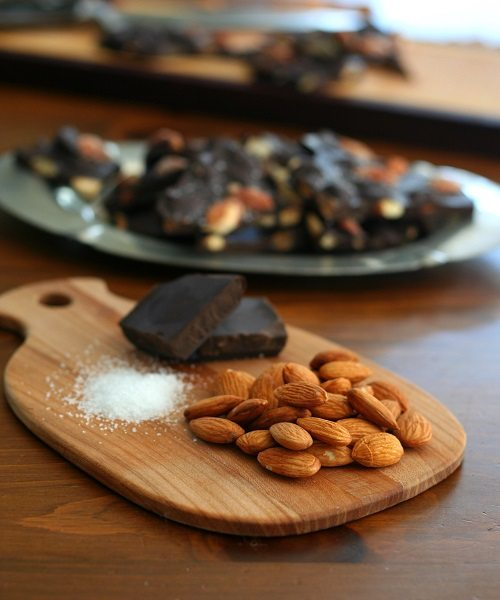 Low Carb Dark Chocolate Sea Salt Almond Bark
