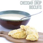 titled image (and shown) Easy Cheesy Cheddar Drop Biscuits