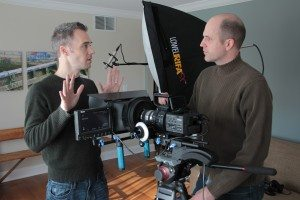 Film-makers Lathe Poland and Eric Carlsen