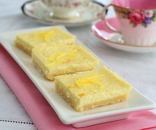 Low Carb Lemon Cheesecake Squares