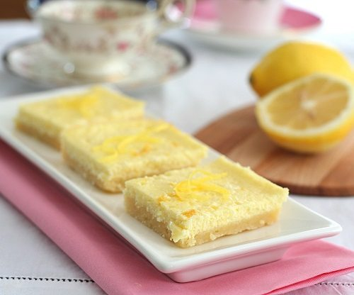 Low Carb Lemon Cheesecake Bars