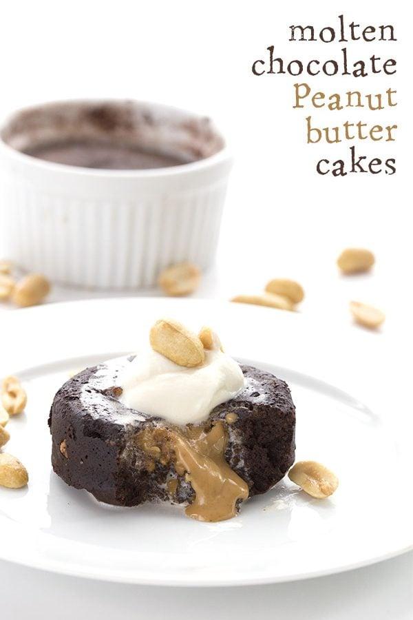 Low Carb Chocolate Peanut Butter Molten Lava Cake