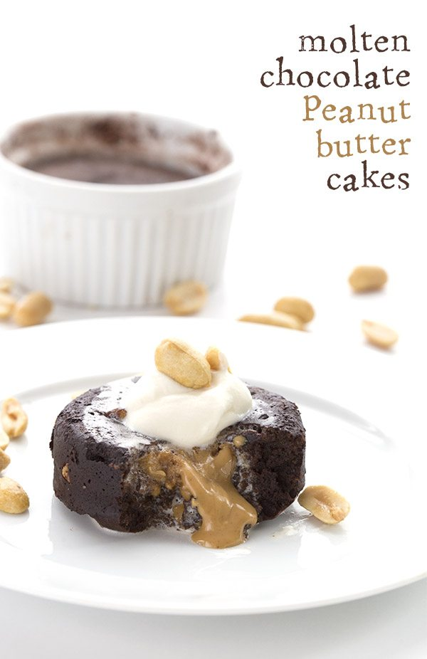 Low Carb Chocolate Peanut Butter Molten Lava Cake