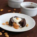 Low Carb Molten Chocolate Peanut Butter Cake