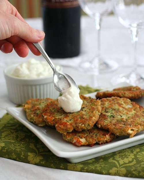 Low Carb Zucchini and Feta Fritters