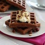 Low Carb Chocolate Hazelnut Protein Waffles