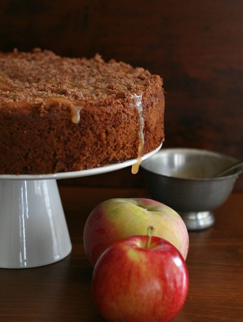 Low Carb Gluten-Free Caramel Apple Coffee Cake
