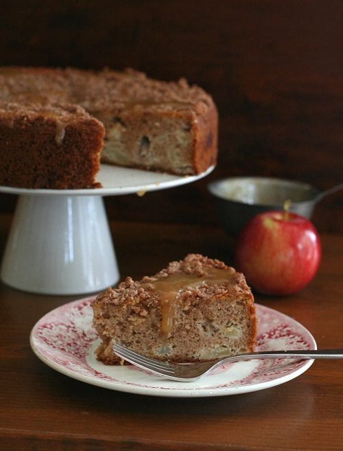 Low Carb Caramel Apple Coffee Cake