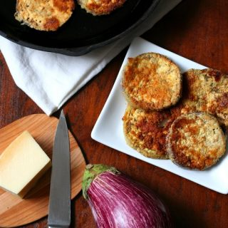 Low Carb Garlic Parmesan Fried Eggplant