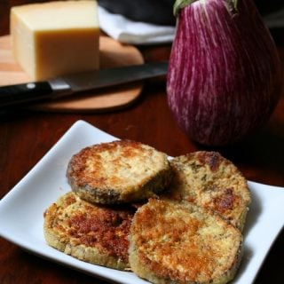 Gluten-Free Garlic Parmesan Eggplant