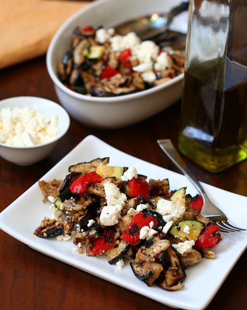 Low Carb Grilled Vegetable Salad Recipe | All Day I Dream About Food
