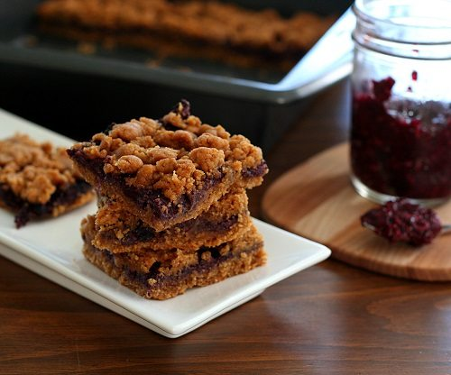 Low Carb Peanut Butter and Chia Seed Jam Bars