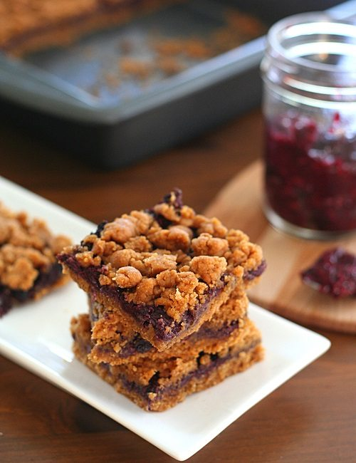 ... seed jam filling. A healthy twist on Peanut Butter and Jelly bars
