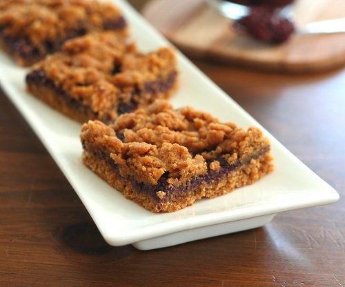 Low Carb Peanut Butter and Jelly Bars