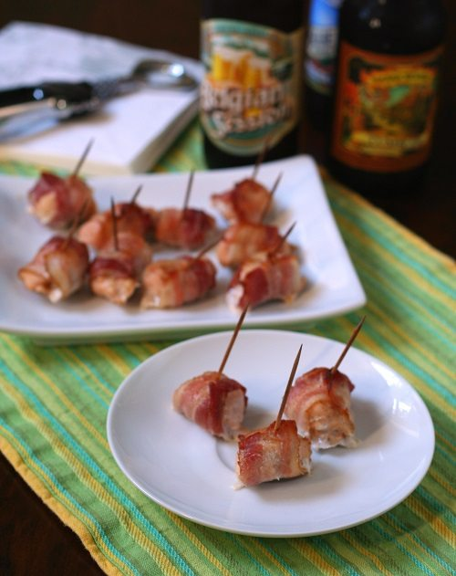 Low Carb Bacon Wrapped Chicken Bites