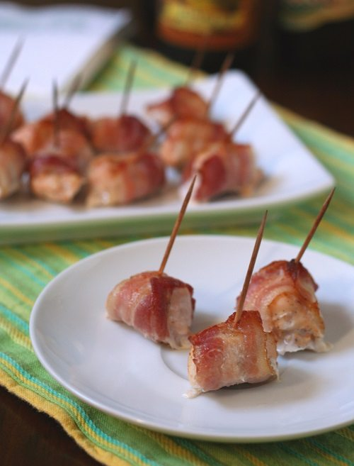 Bacon-Wrapped Chicken Appetizers