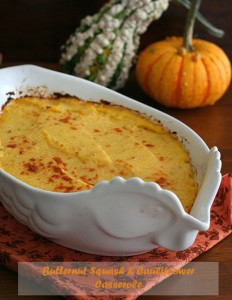 Butternut Squash and Cauliflower Casserole