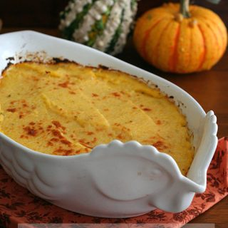 Low Carb Butternut Squash and Cauliflower Casserole