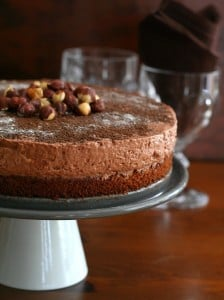 Low Carb Chocolate Hazelnut Mousse Cake