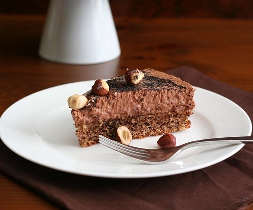 Low Carb Gluten-Free Chocolate Hazelnut Mousse Cake
