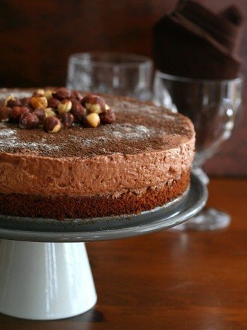 Low Carb Chocolate Hazelnut Mousse Cake