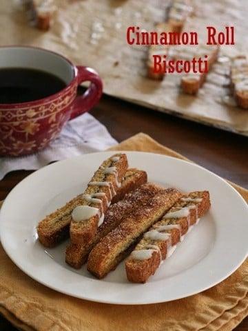 Low Carb Cinnamon Roll Biscotti