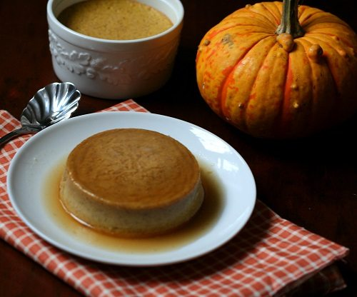 Low Carb Pumpkin Caramel Flan