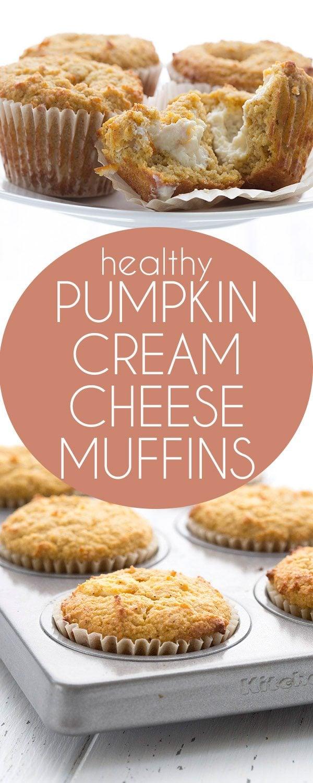 Popular low carb pumpkin muffins stuffed with sugar-free cream cheese filling. A healthy Starbucks copycat recipe. #keto #lowcarb #pumpkinrecipes #pumpkinmuffins #ketodiet
