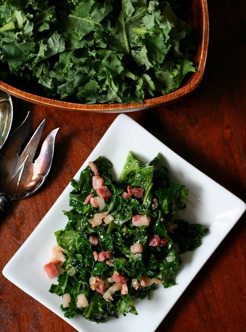 Spicy Kale with Pancetta and Onions