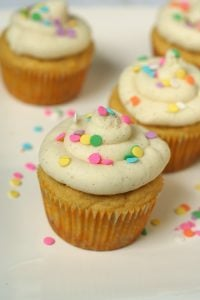 Low Carb Gluten Free Vanilla Bean Cupcakes #coconutflour