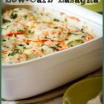 Low Carb Roasted Garlic and Chevre Lasagne