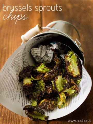 Chips made from Brussels Sprouts, low carb and gluten-free