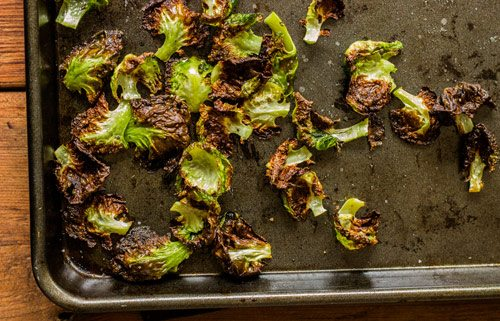 Low Carb Brussels Sprounts Chip Recipe