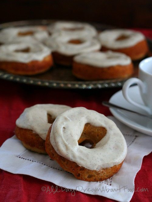Dairy-Free Gingerbread Donuts with Cream Cheese Glaze