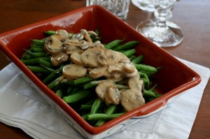 Green Beans with Creamy Mushroom Sauce 2